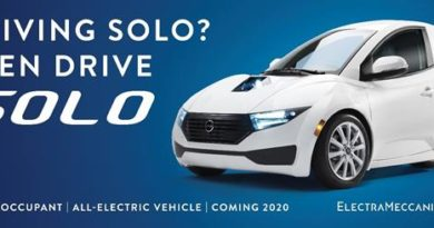 "ElectraMeccanica Launches ""Drive SOLO"" Marketing Campaign"